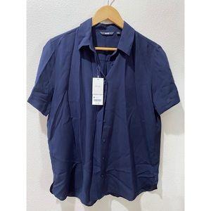 UNIQLO Short sleeve blue button up sz M